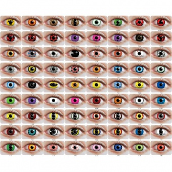Lot de 50 paires de lentilles de contact fantaisie
