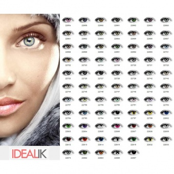 Lot de 50 paires de lentilles de contact couleur
